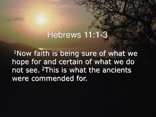 Hebrews 11:1-3