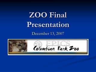 ZOO Final Presentation