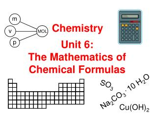 Unit 6: The Mathematics of Chemical Formulas