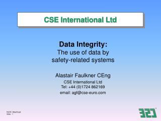 CSE International Ltd