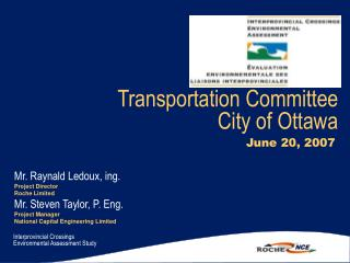 Transportation Committee  City of Ottawa