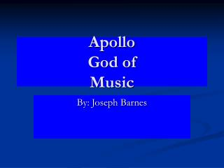 Apollo God of Music