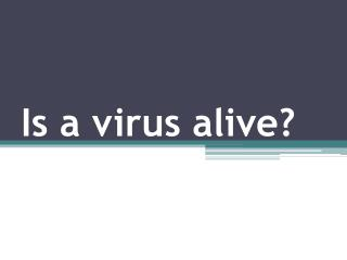 Is a virus alive?