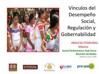 Vínculos del Desempeño  Social,  Regulación y Gobernabilidad