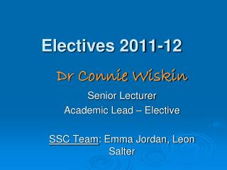 Electives 2011-12