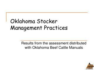 Oklahoma Stocker Management Practices