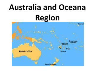 Australia and Oceana Region