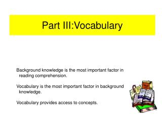 Part III:Vocabulary