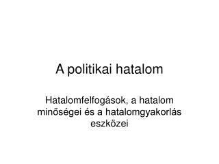 A politikai hatalom