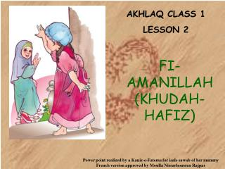 AKHLAQ CLASS 1 LE SSON 2