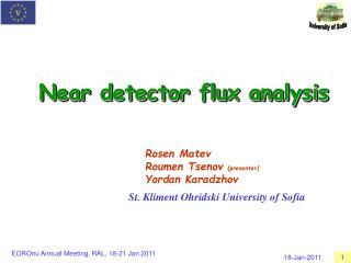 Near detector flux analysis