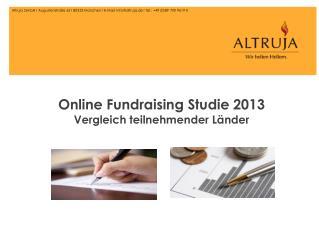 Online Fundraising Studie 2013 Vergleich teilnehmender Länder