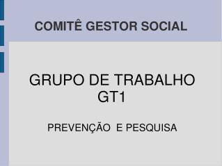 COMITÊ GESTOR SOCIAL