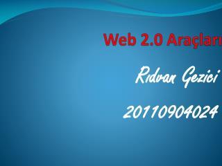 Web 2.0 Araçları