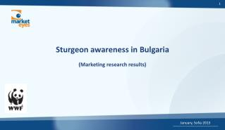 Sturgeon awareness in Bulgaria ( Marketing research results)