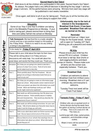 Roe Lee Park School Newsletter July 2007