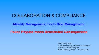 COLLABORATION & COMPLIANCE Identity Management  meets  Risk Management