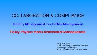 COLLABORATION & COMPLIANCE Identity Management  meets  Risk Management