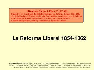 Historia de México I, PEA CCH UNAM