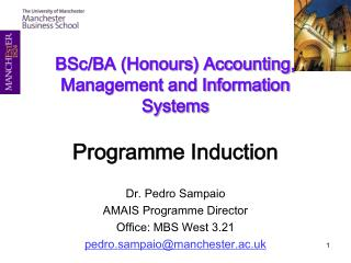 BSc/BA (Honours) Accounting, Management and Information Systems