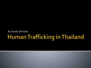 Human Trafficking in Thailand