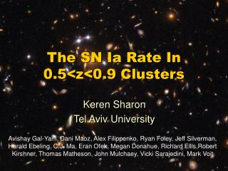 The SN Ia Rate In 0.5<z<0.9 Clusters