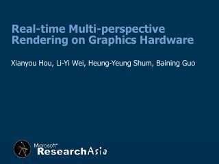 Xianyou Hou, Li-Yi Wei, Heung-Yeung Shum, Baining Guo