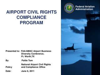 AIRPORT CIVIL RIGHTS COMPLIANCE PROGRAM