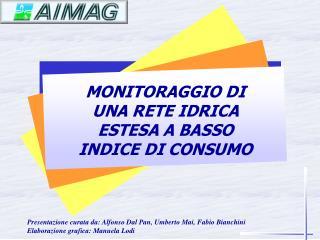 MONITORAGGIO DI UNA RETE IDRICA ESTESA A BASSO INDICE DI CONSUMO