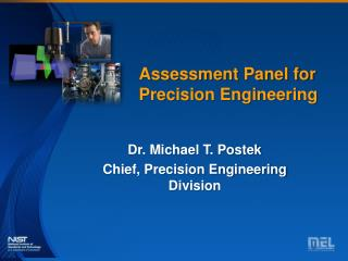 Assessment Panel for Precision Engineering