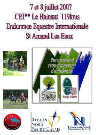 7 et 8 juillet 2007  CEI** Le Hainaut  119kms  Endurance Equestre Internationale