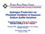 Hydrogen Production via Photolytic Oxidation of Aqueous Sodium Sulfite Solutions