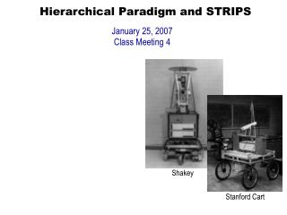 Hierarchical Paradigm and STRIPS