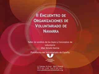 II Encuentro de Organizaciones de Voluntariado de Navarra