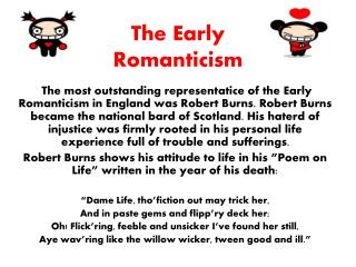 The Early Romanticism