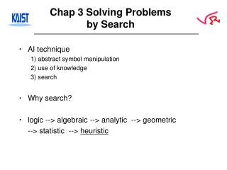 Chap 3 Solving Problems by Search