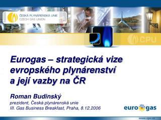 Roman Budinský prezident, Česká plynárenská unie III. Gas Business Breakfast, Praha, 8.12.2006