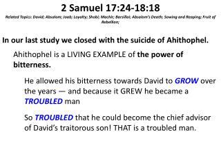2 Samuel 17:24-18:18