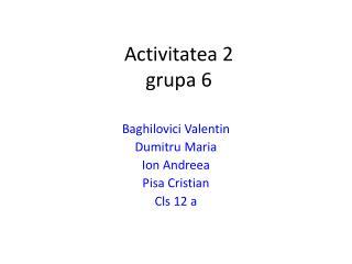 Activitatea 2 grupa 6