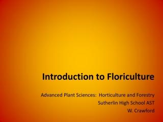 Identification of Floriculture Plants