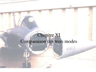 Chapitre XI Comparaison des trois modes