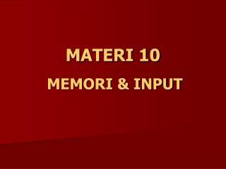MATERI 10