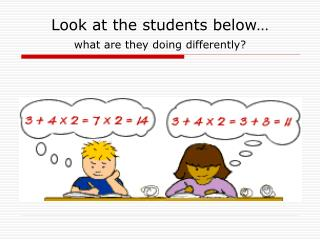 Look at the students below… what are they doing differently?