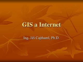 GIS a Internet