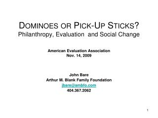 John Bare Arthur M. Blank Family Foundation jbare@ambfo 404.367.2062
