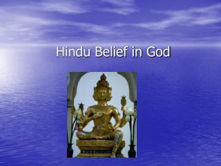 Hindu Belief in God