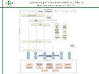 ¿Quiénes integran el Sistema de Gestión de Calidad  de  Medicamentos Exclusivos S.A. De C.V.?