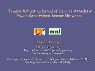 Toward Mitigating Denial of Service Attacks in Power-Constrained Sensor Networks