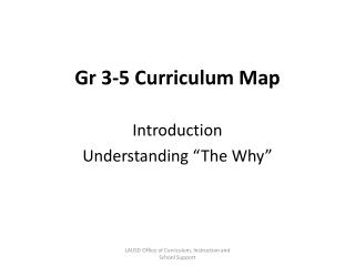 Gr 3-5 Curriculum Map