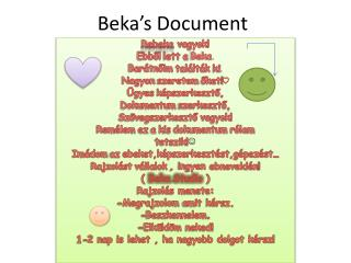 Beka's Document